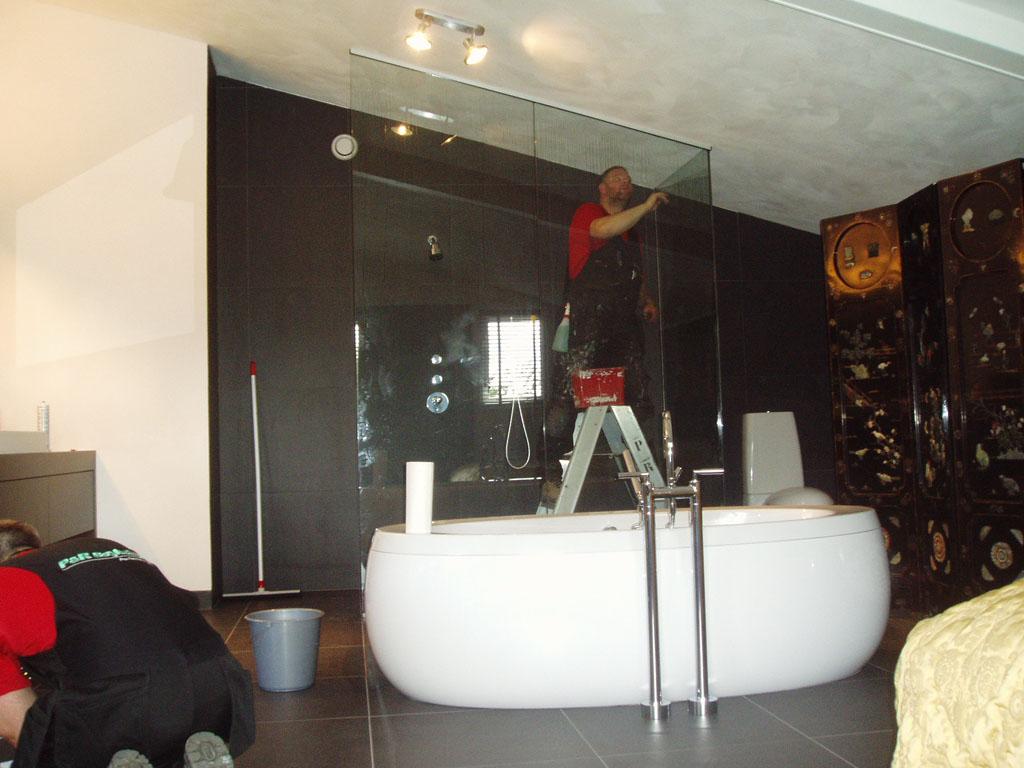 Glazen Wand Badkamer : Glazen wanden badkamer in rolde drenthe p&r beglazingen perfectie